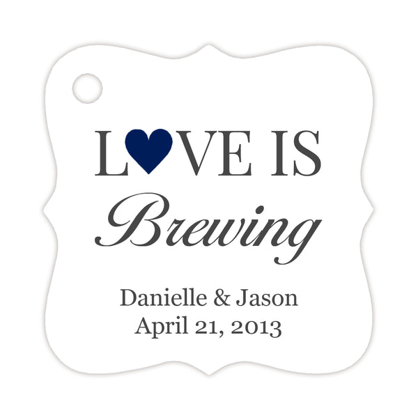 Love is brewing tags - Navy - Dazzling Daisies