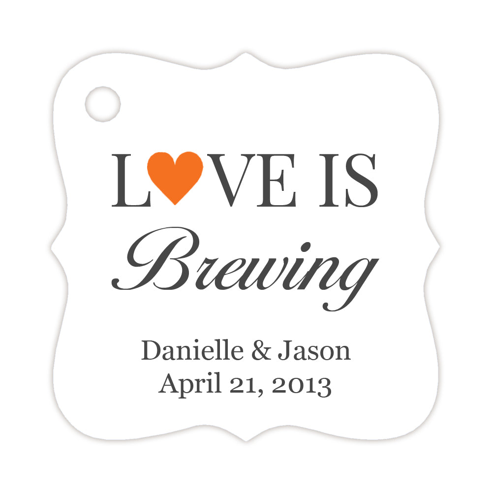 Love is brewing tags - Black - Dazzling Daisies