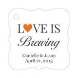 Love is brewing tags - Orange - Dazzling Daisies