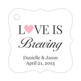 Love is brewing tags - Pink - Dazzling Daisies