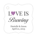 Love is brewing tags - Plum - Dazzling Daisies