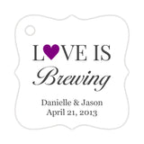 Love is brewing tags - Purple - Dazzling Daisies