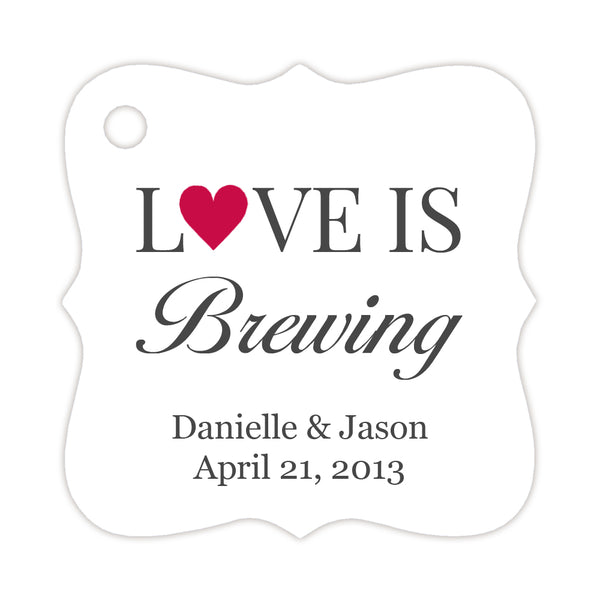 Love is brewing tags - Raspberry - Dazzling Daisies