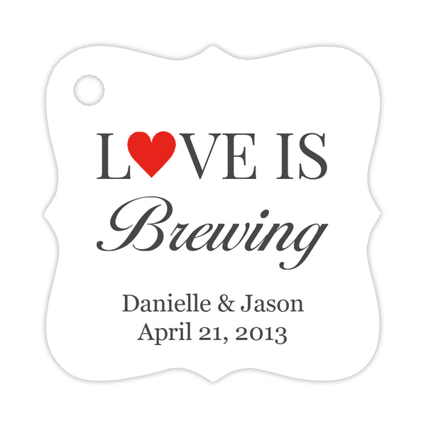 Love is brewing tags - Red - Dazzling Daisies
