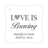 Love is brewing tags - Silver - Dazzling Daisies