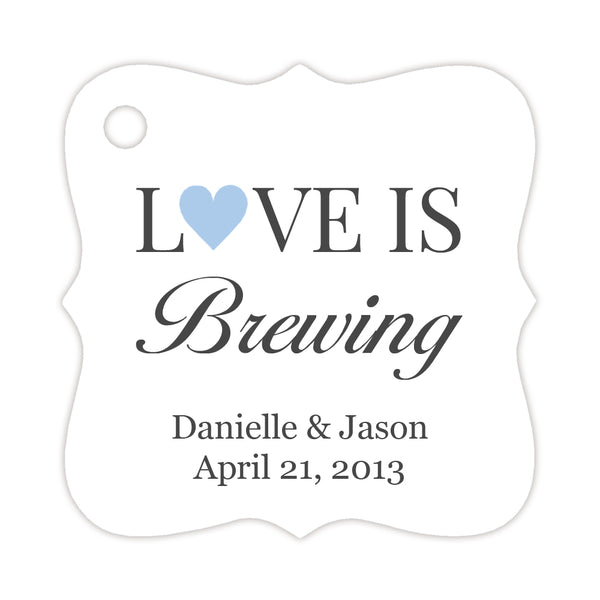 Love is brewing tags - Steel blue - Dazzling Daisies