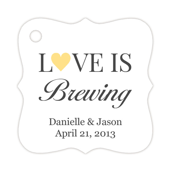 Love is brewing tags - Sunrise - Dazzling Daisies