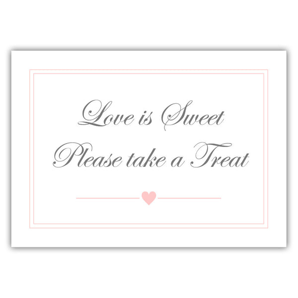 "Love is sweet sign 'Elevated Elegance' - 5x7"" / Blush - Dazzling Daisies"