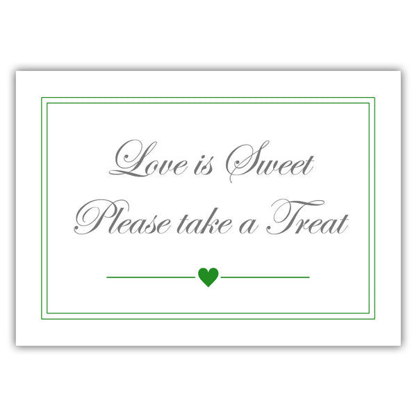 "Love is sweet sign 'Elevated Elegance' - 5x7"" / Green - Dazzling Daisies"