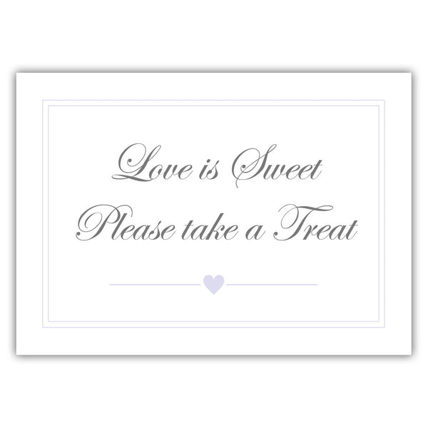 "Love is sweet sign 'Elevated Elegance' - 5x7"" / Lavender - Dazzling Daisies"