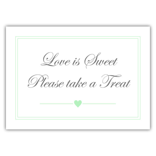 "Love is sweet sign 'Elevated Elegance' - 5x7"" / Mint - Dazzling Daisies"