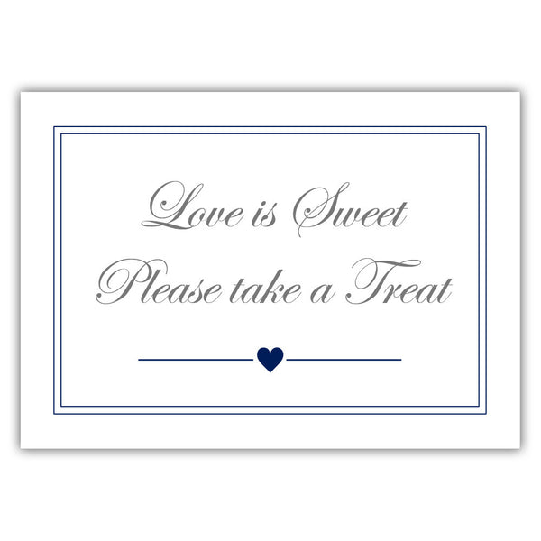 "Love is sweet sign 'Elevated Elegance' - 5x7"" / Navy - Dazzling Daisies"