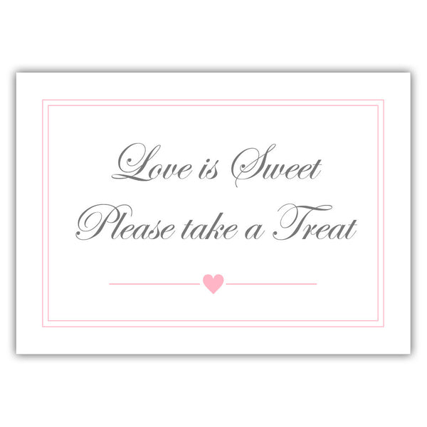 "Love is sweet sign 'Elevated Elegance' - 5x7"" / Pink - Dazzling Daisies"
