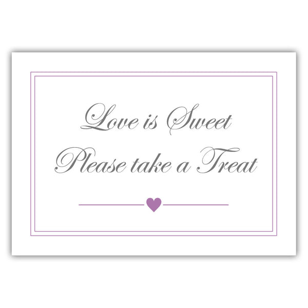 "Love is sweet sign 'Elevated Elegance' - 5x7"" / Plum - Dazzling Daisies"