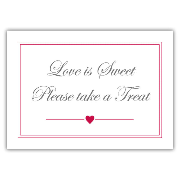 "Love is sweet sign 'Elevated Elegance' - 5x7"" / Raspberry - Dazzling Daisies"
