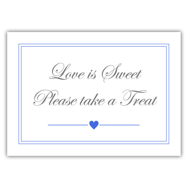"Love is sweet sign 'Elevated Elegance' - 5x7"" / Royal blue - Dazzling Daisies"