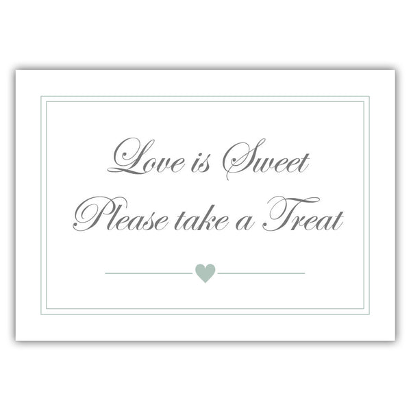 "Love is sweet sign 'Elevated Elegance' - 5x7"" / Sage - Dazzling Daisies"