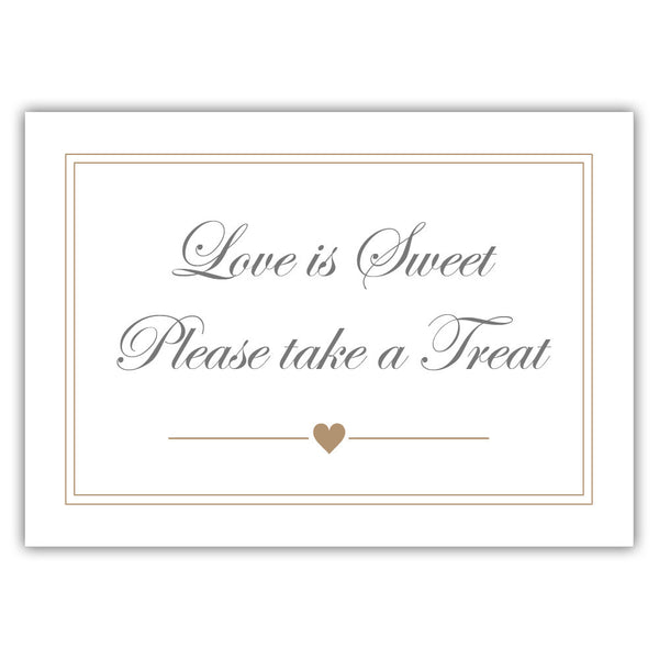 "Love is sweet sign 'Elevated Elegance' - 5x7"" / Sand - Dazzling Daisies"