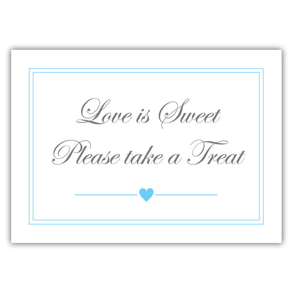 "Love is sweet sign 'Elevated Elegance' - 5x7"" / Sky blue - Dazzling Daisies"