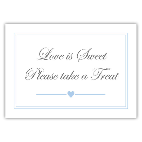 "Love is sweet sign 'Elevated Elegance' - 5x7"" / Steel blue - Dazzling Daisies"