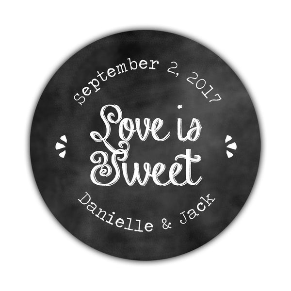 Love is sweet stickers Charming Chalk' -  - Dazzling Daisies