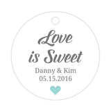 Love is sweet tags - Aquamarine - Dazzling Daisies