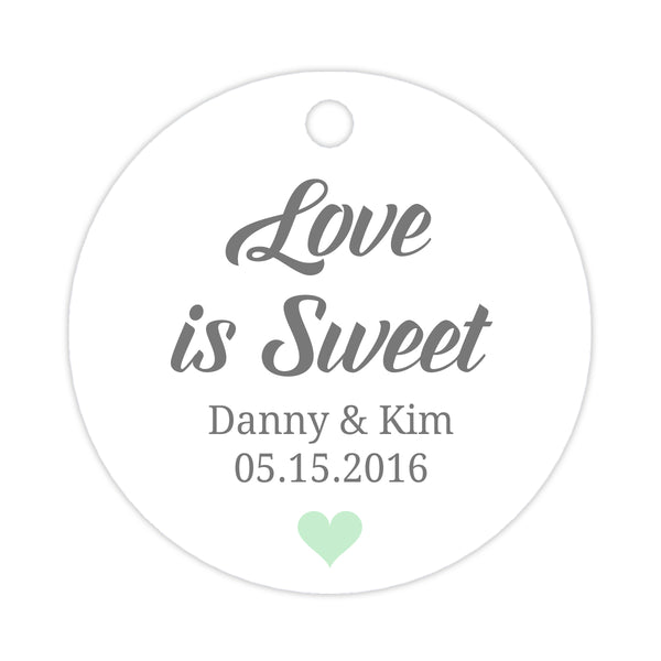 Love is sweet tags - Mint - Dazzling Daisies