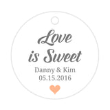 Love is sweet tags - Peach - Dazzling Daisies