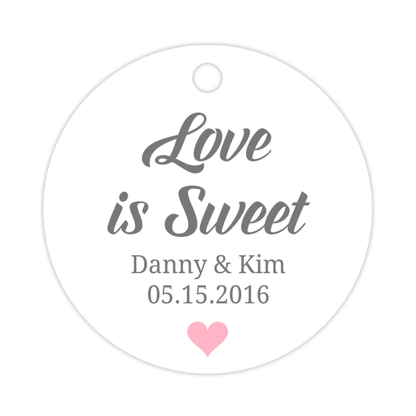 Love is sweet tags - Pink - Dazzling Daisies