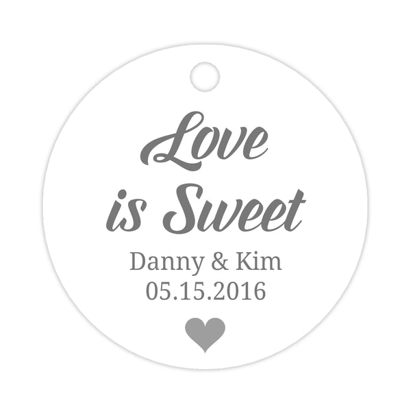 Love is sweet tags - Silver - Dazzling Daisies