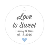 Love is sweet tags - Steel blue - Dazzling Daisies