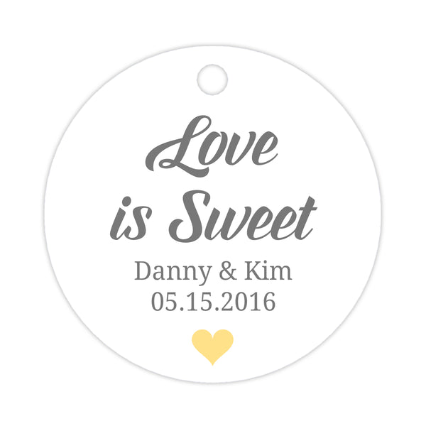 Love is sweet tags - Sunrise - Dazzling Daisies