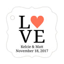 Love tags - Coral - Dazzling Daisies