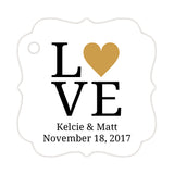 Love tags - Gold - Dazzling Daisies