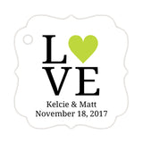 Love tags - Lime - Dazzling Daisies