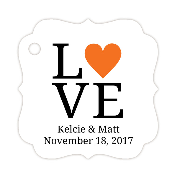Love tags - Orange - Dazzling Daisies