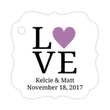 Love tags - Plum - Dazzling Daisies