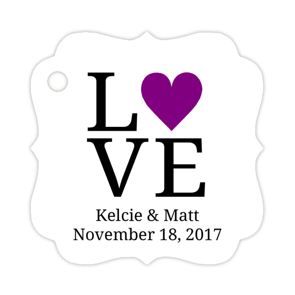 Love tags - Purple - Dazzling Daisies