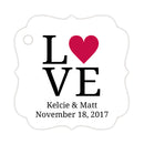 Love tags - Raspberry - Dazzling Daisies