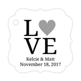 Love tags - Silver - Dazzling Daisies
