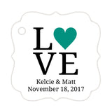 Love tags - Teal - Dazzling Daisies
