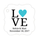 Love tags - Turquoise - Dazzling Daisies