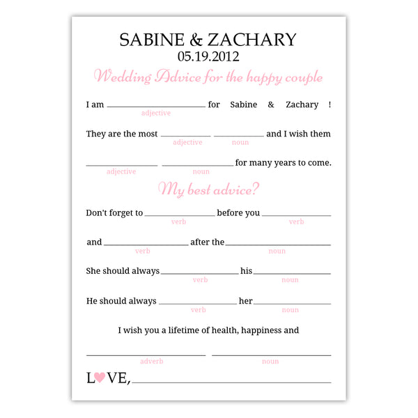 photograph regarding Funny Wedding Mad Libs Printable titled Marriage ridiculous libs