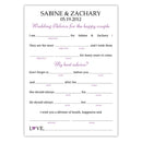 Wedding mad libs - Plum - Dazzling Daisies