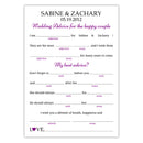 Wedding mad libs - Purple - Dazzling Daisies