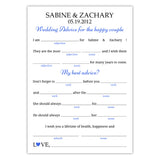 Wedding mad libs - Royal blue - Dazzling Daisies