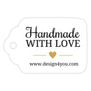 Handmade with love tags - Gold - Dazzling Daisies