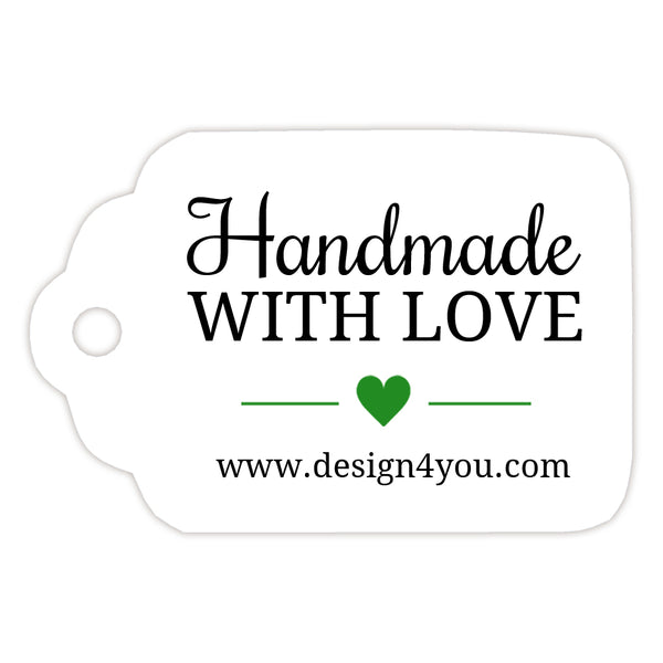 Handmade with love tags - Green - Dazzling Daisies