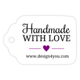 Handmade with love tags - Purple - Dazzling Daisies