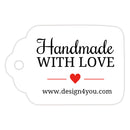 Handmade with love tags - Red - Dazzling Daisies